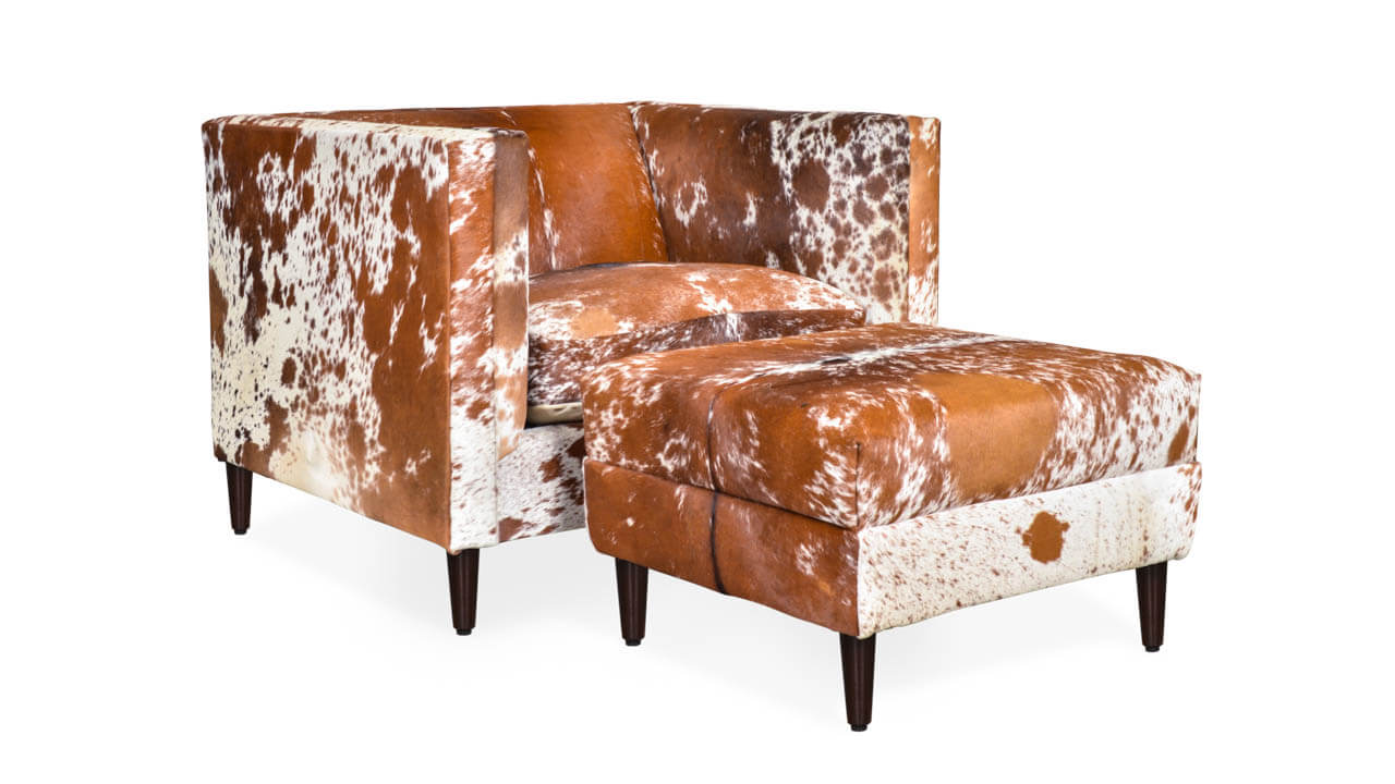 Amelia Hair on Hide Chair Brown and White Speckled HOH by COCOCO Home
