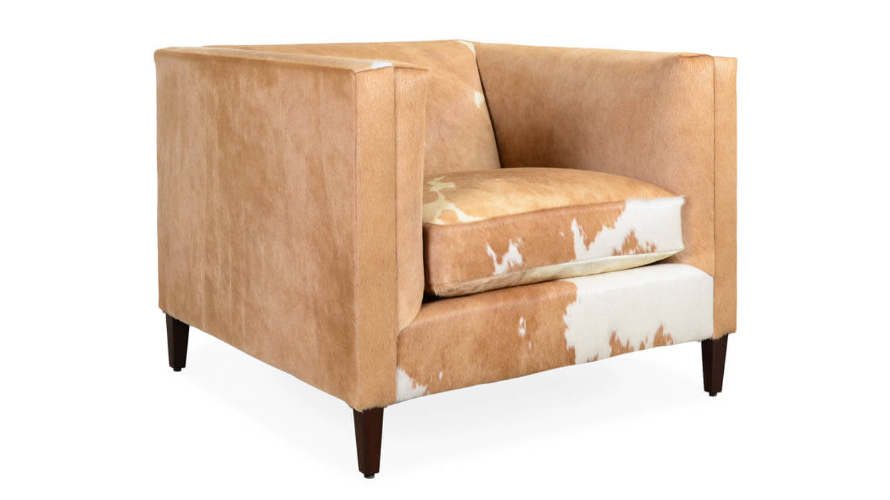 Amelia Hair on Hide Chair Fawn and White HOH by COCOCO Home
