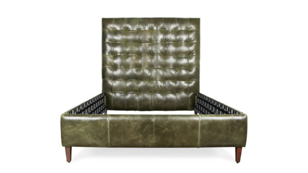 Aspen Queen Leather Bed 67H Cambridge Winter Pine by COCOCO Home
