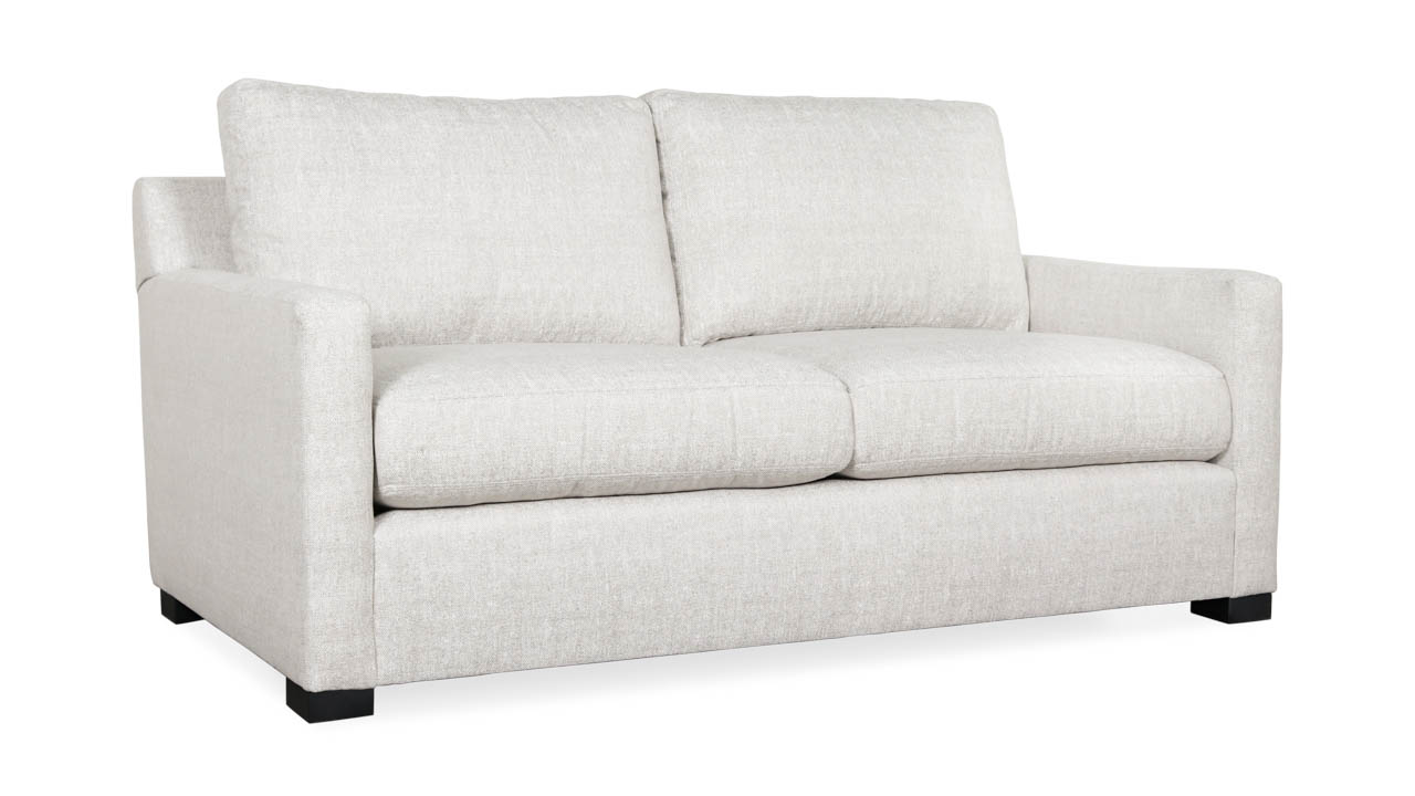 Brevard Fabric Loveseat 68 x 38 Chartres Silk by COCOCO Home
