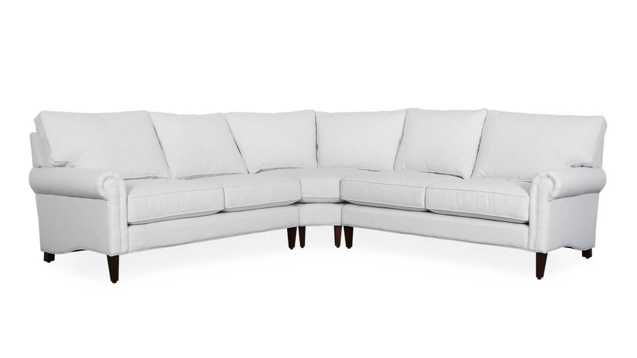 Dilworth Radius Corner Fabric Sectional 106 x 106 x 38 Rollo Fog by COCOCO Home
