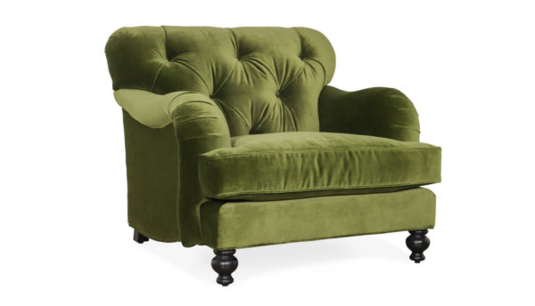Cococo Home, Eastover Fabric Chair, JB Martin Como Jade velvet, english arm, english roll arm, tufted english arm