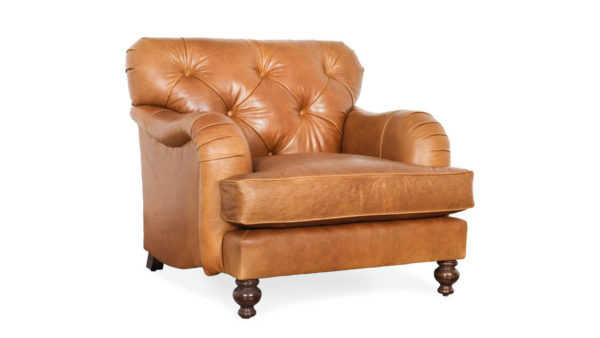 Eastover Leather Chair 36.5 x 38 Berkshire Chestnut by COCOCO Home