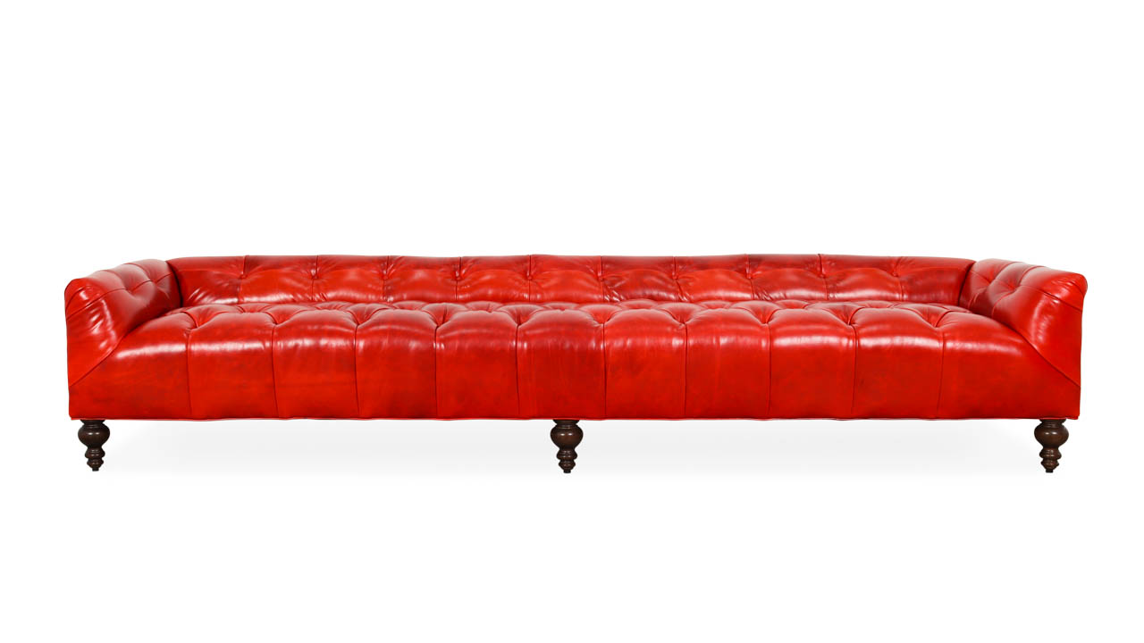 Field Leather Bench 108 x 29 Mont Blanc Crimson by COCOCO Home