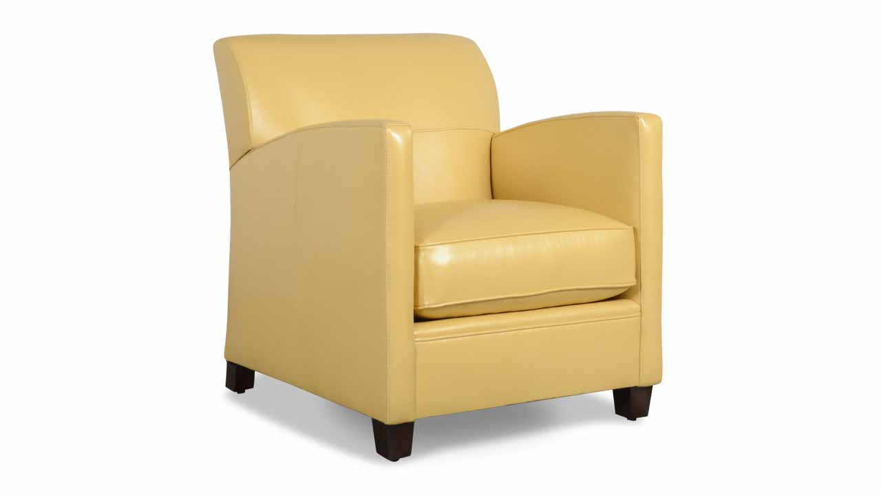 Lenoir Leather Chair 27 x 32 Hollywood Golden Bliss
