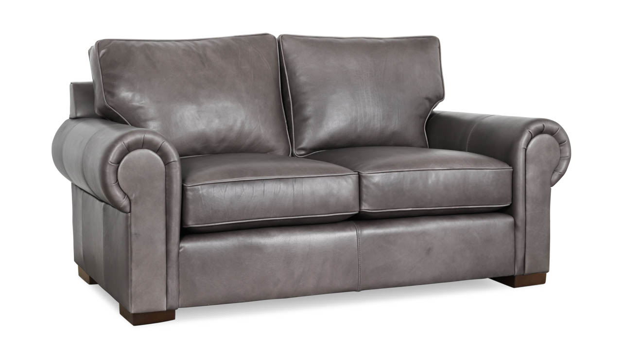 Lexington Leather Loveseat 70 x 40 Harness Charcoal Grey by COCOCO Home