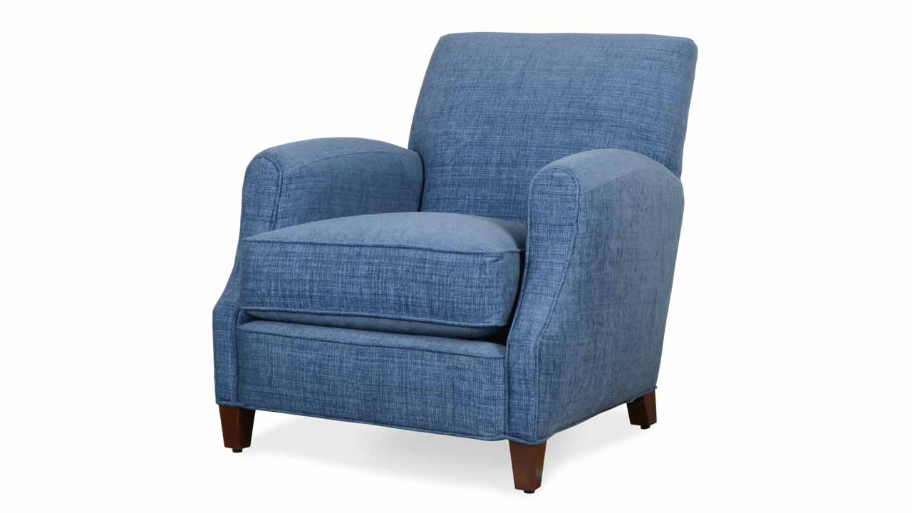Metro Fabric Chair Vermillion Denim