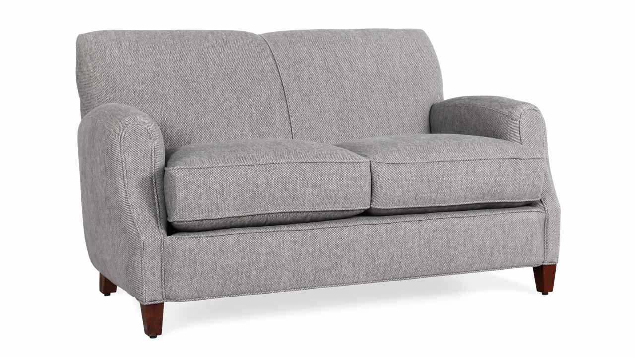 Metro Fabric Loveseat 56 x 36 Sunbrella Tailored Smoke