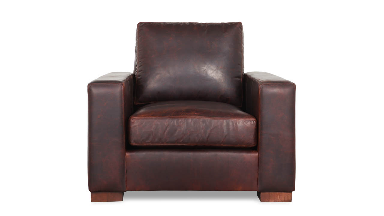 Monroe Leather Chair 39 x 42 Telluride Brown by COCOCO Home