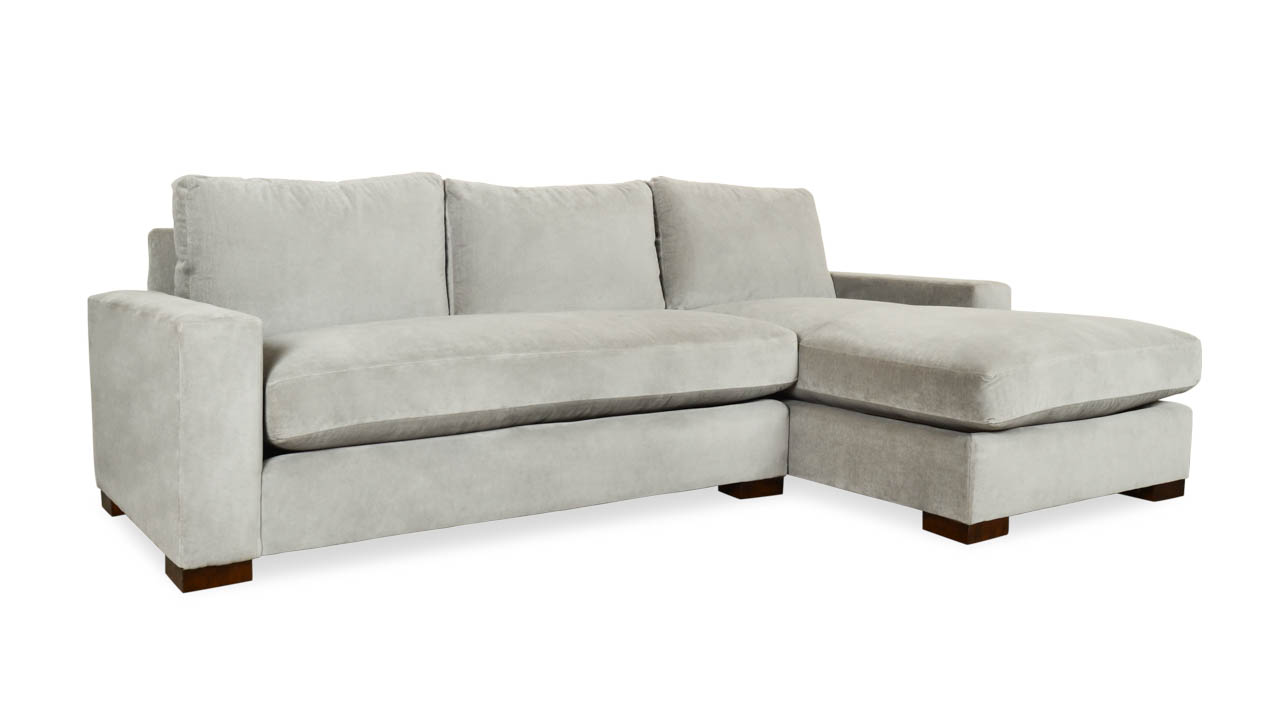 Cococo Home, Monroe, Single Chaise Sectional, Chaise, Contemporary Fabric Sofa