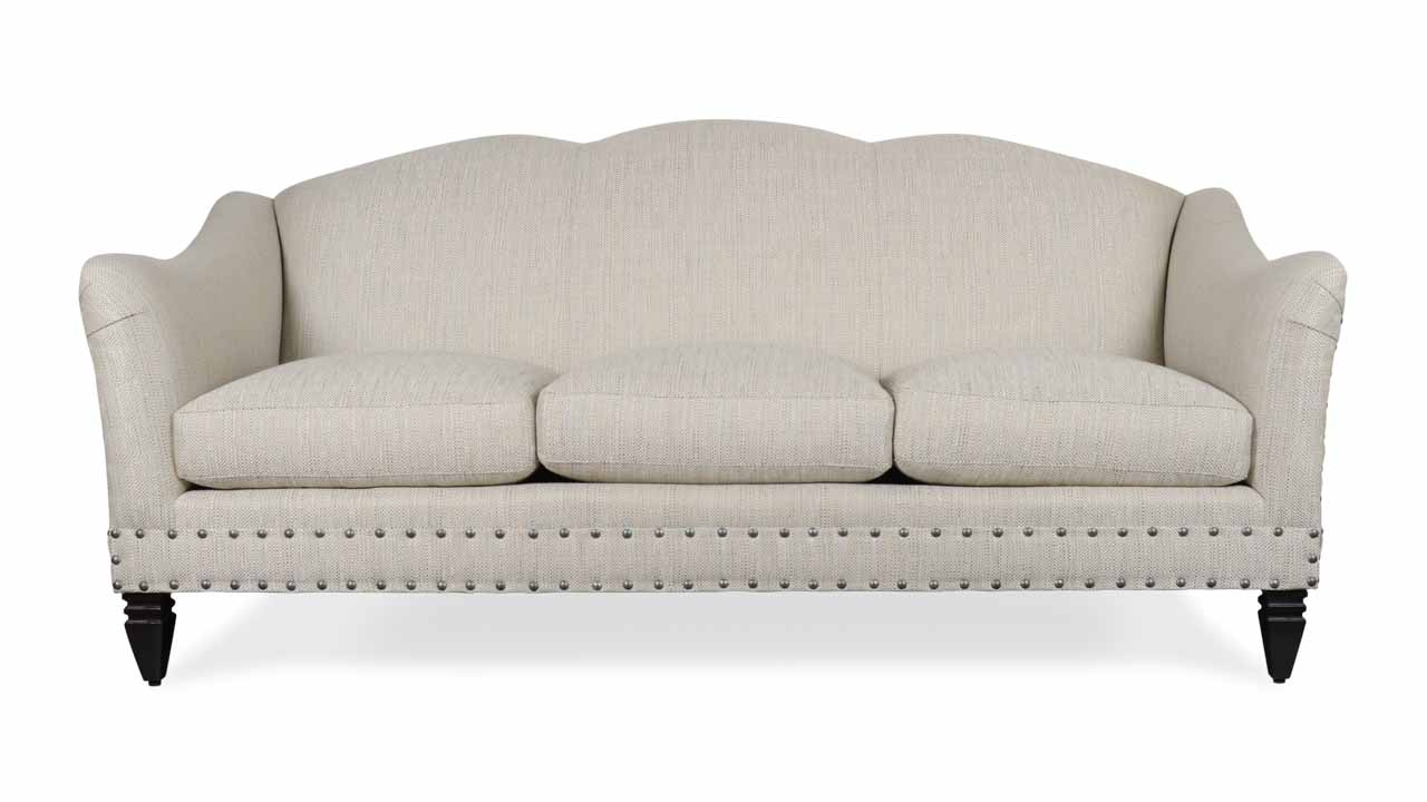 Raleigh Fabric Sofa 81 Valdese Balsamo Sterling