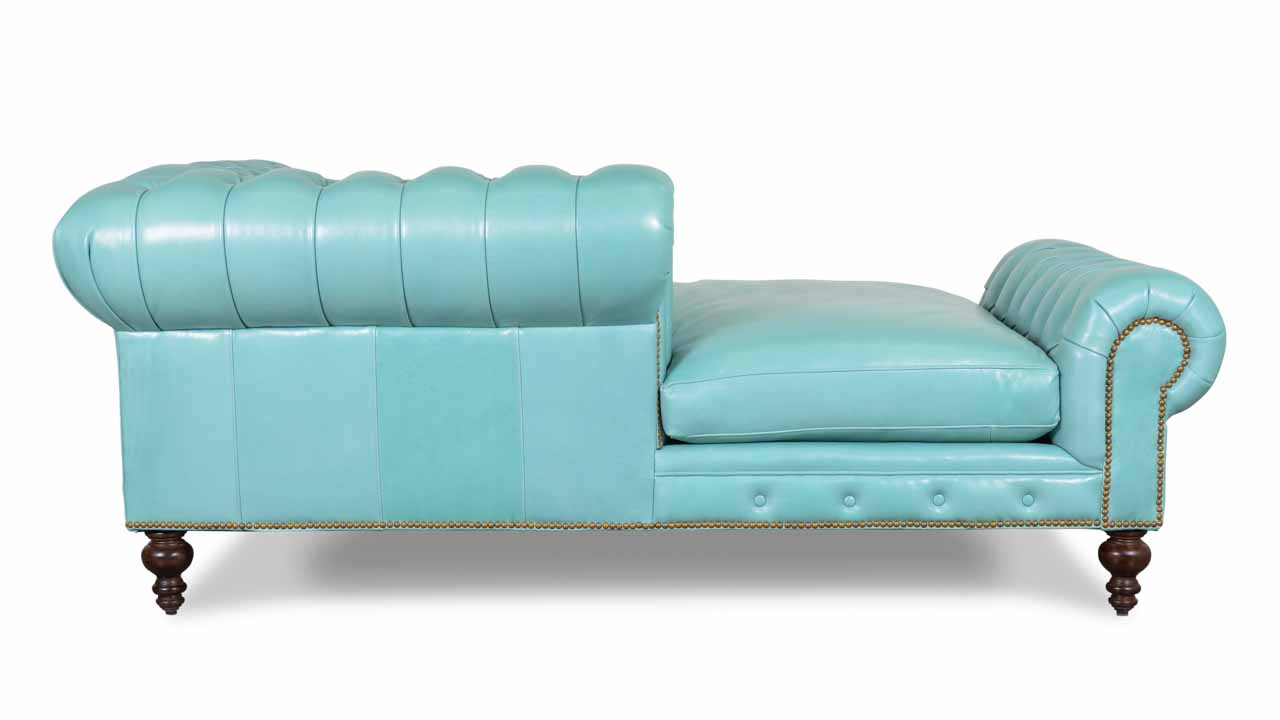 Pippa Leather Chaise Brigton Oceanic Side