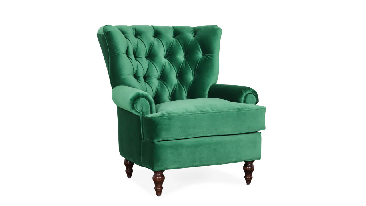 Blanton Fabric Chair 34 x 37 Como Emerald by COCOCO Home