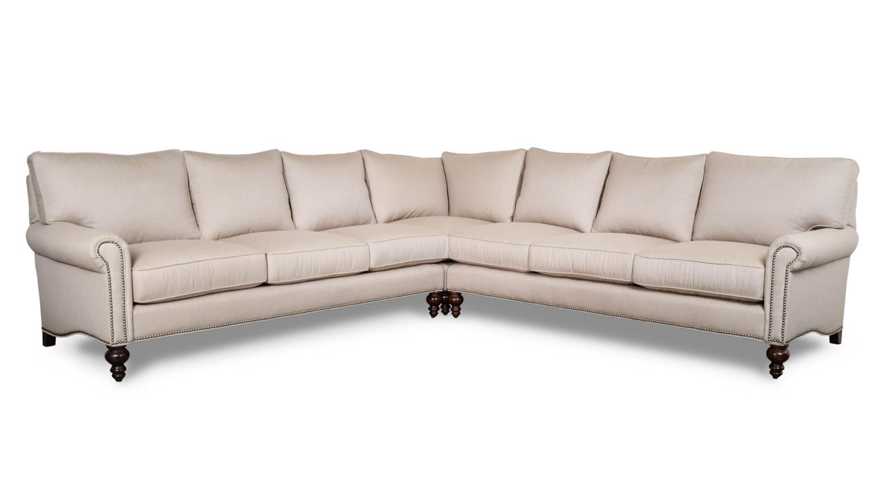 Dilworth Square Corner Fabric Sectional Posh Shitake