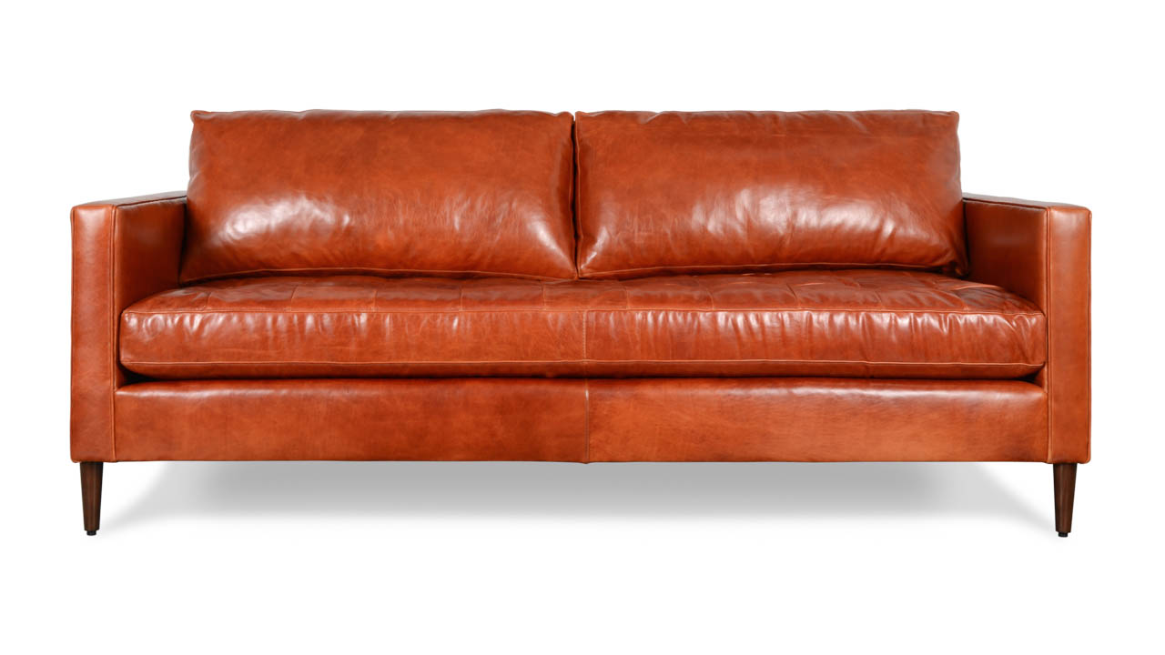 Madison Leather Sofa 86 x 40 Echo Cognac by COCOCO Home
