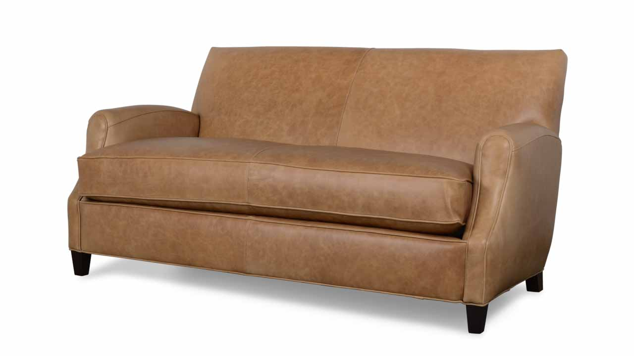 Metro Leather Sofa in Beige