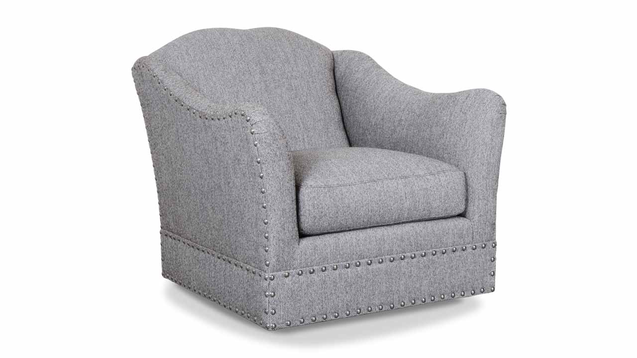 Raleigh Fabric Swivel Chair Loomis Charcoal