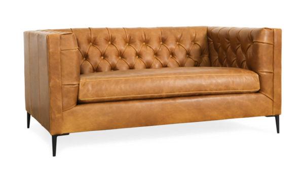 Belmont Leather Loveseat 65 x 38 Brentwood Tan 1 1