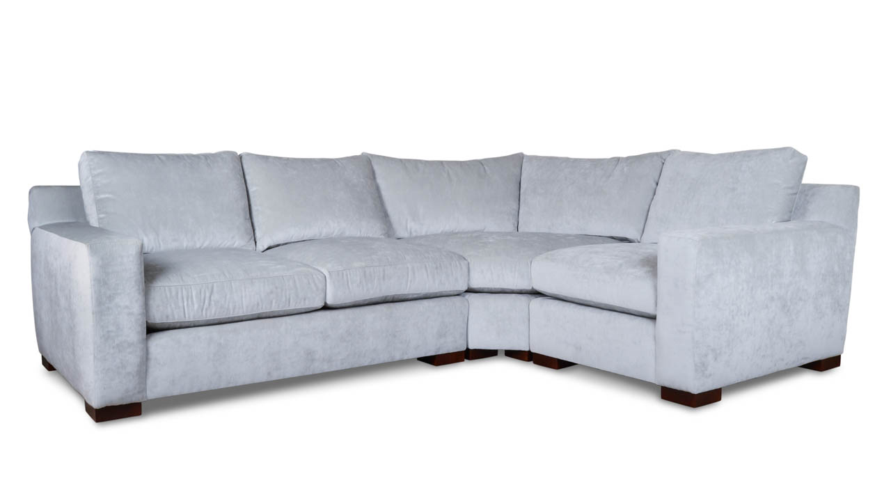 Durham Radius L Fabric Sectional 111.5 x 84.5 Leolaris Stream