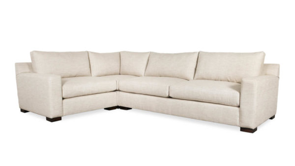 Durham Square L Fabric Sectional 89 x 128 x 42 Lulu Linen by COCOCO Home