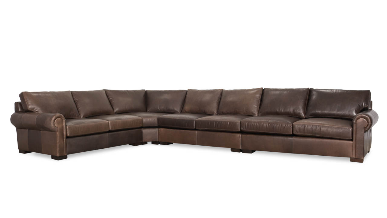 Lexington Radus L Leather Sectional 119 x 179 x 42 Berkshire Anthracite by COCOCO Home
