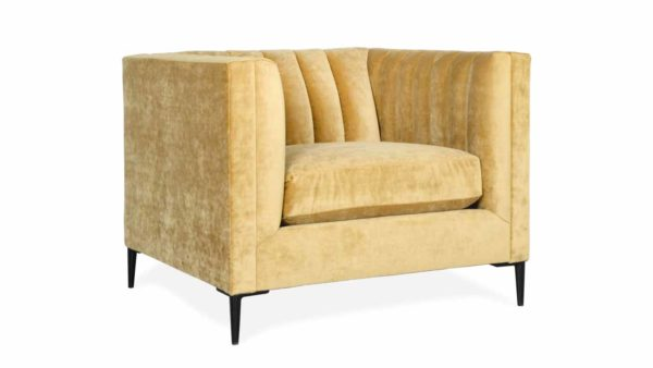Clark Fabric Chair 37 x 35 Milan Antique Gold by COCOCO Home