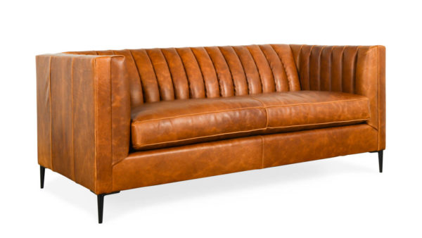 Clark Leather Loveseat 72 x 35 Brentwood Cuero by COCOCO Home