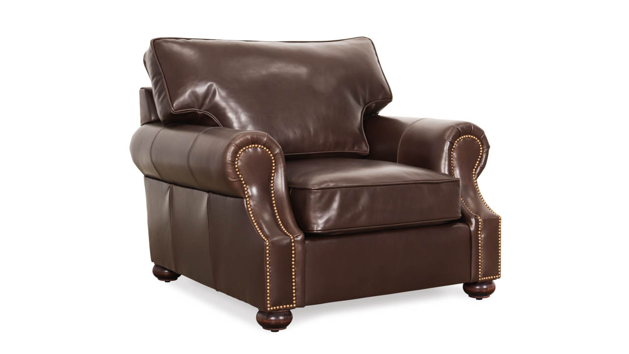 Jackson Leather Chair 44 x 42 Doral Truffle by COCOCO Home