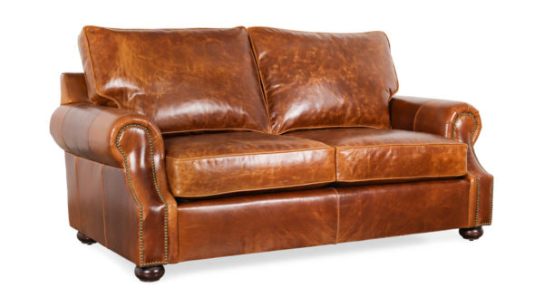 Jackson Leather Loveseat 76 x 39 Sundance Cognac by COCOCO Home