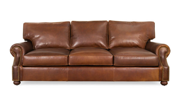 Jackson Leather Sofa 103 x 48 Berkshire Bourbon by COCOCO Home