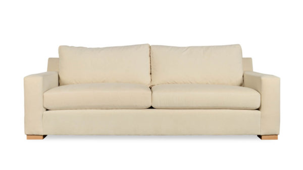 Durham Fabric Sleeper Sofa 93 x 42 Cannes Ivory by COCOCO Home