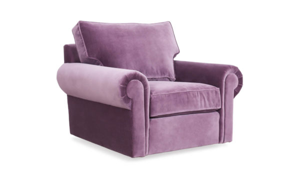 Lexington Fabric Swivel Chair 42 x 38 Cannes Thistle by COCOCO Home