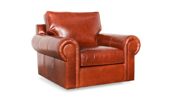 Lexington Leather Swivel Chair 44 x 44 Echo Russet by COCOCO Home