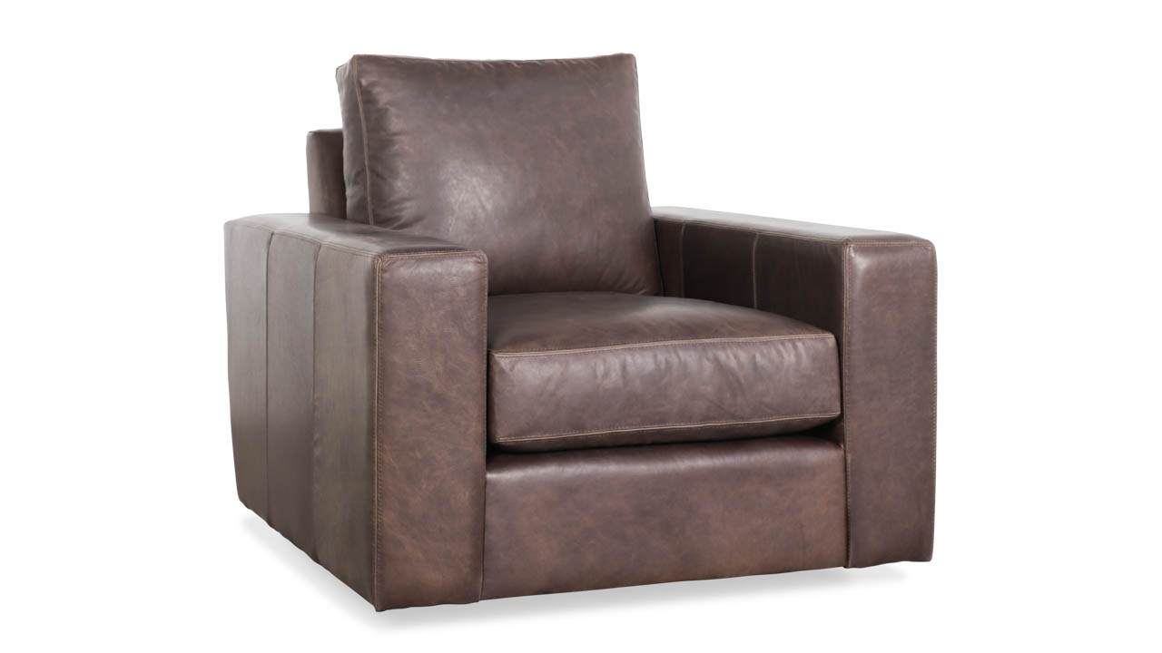 Cococo Home, Monroe Chair, Leather Swivel Chair, Contemporary Chair