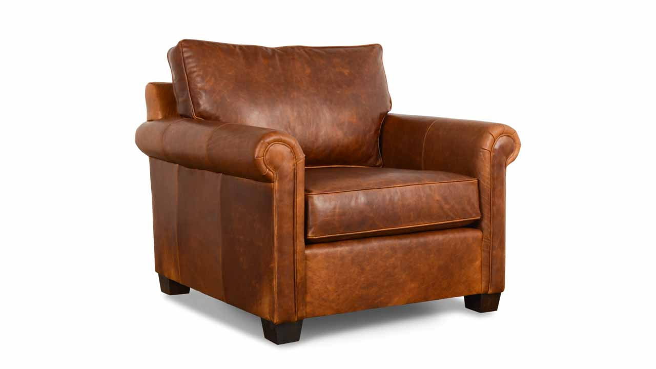 Studio Lexington Leather Chair 38 x 39 Berkshire Tan