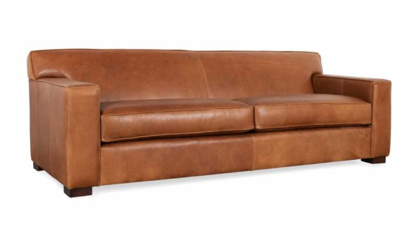Boone Leather Sofa 93 x 38 Berkshire Chestnut