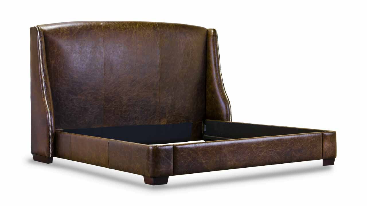 Morrison Leather Bed in Brown