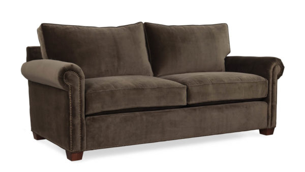Studio Lexington Fabric Loveseat 78 x 38 Cannes Cafe by COCOCO Home