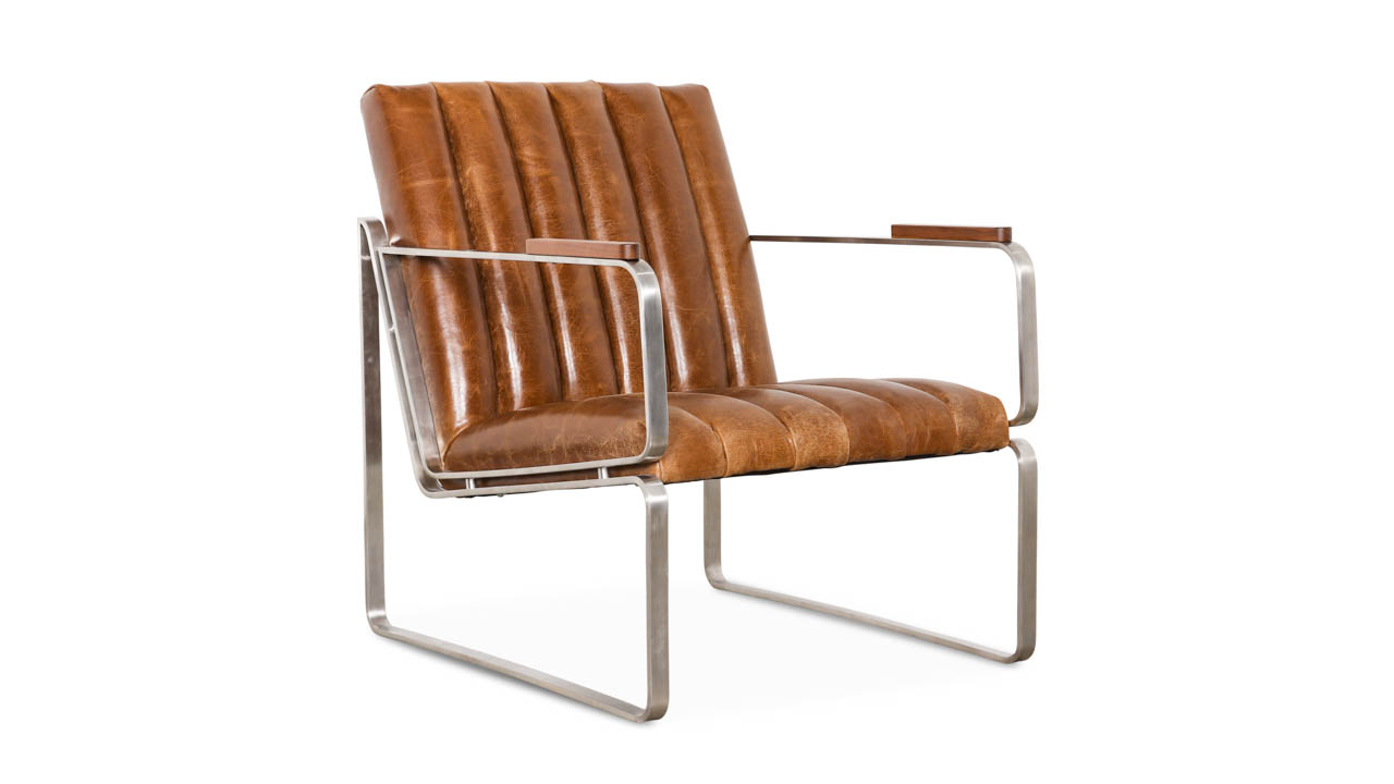 Shelby Leather Chair Cambridge Sycamore