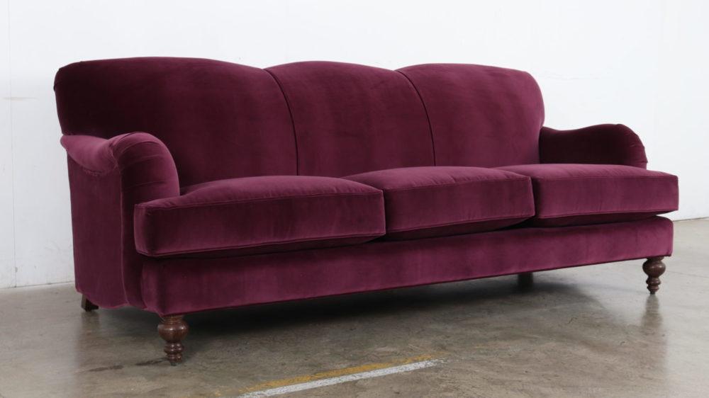 Cococo Home, Como Bergamot, Velvet Sofa, English Arm Sofa, Traditional Velvet Sofa