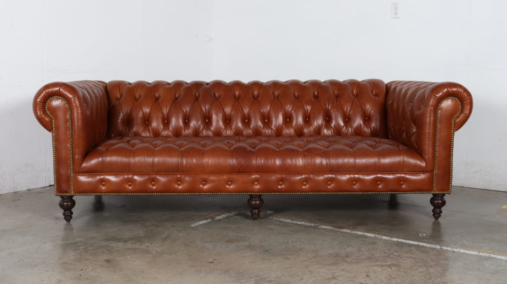 Chelsea Chesterfield Sofa, Mont Blanc Caramel
