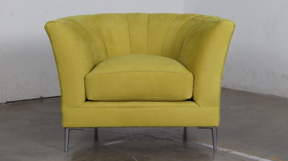 Moore and Giles, Cococo Home, Cotswold Citrine, Silver Legs, Charlotte Chair, Modern Chair