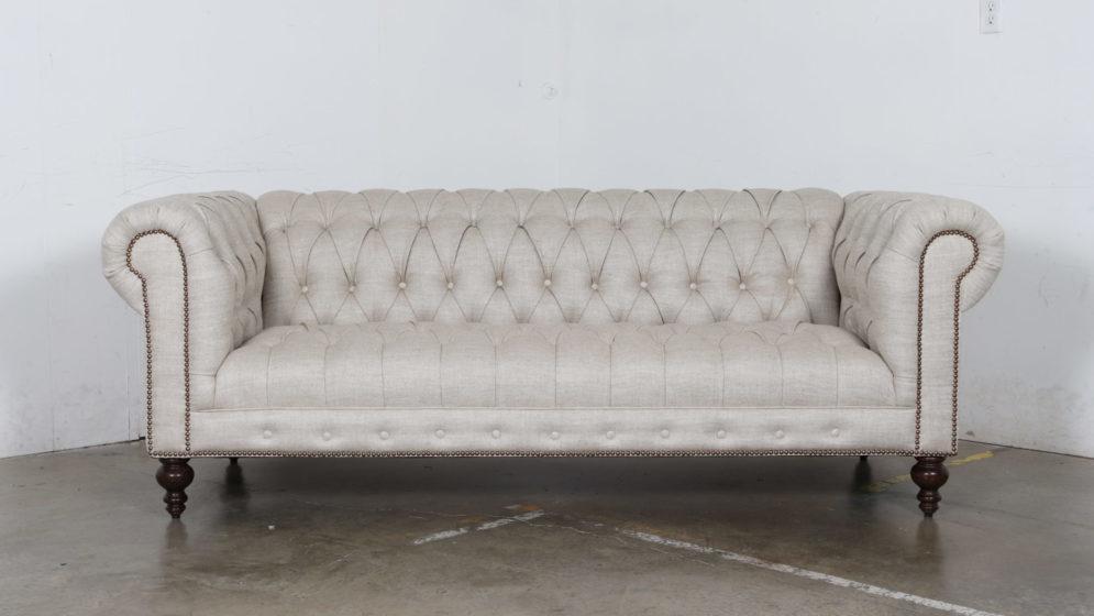 Cococo Home, Chesterfield Sofa, Linen Sofa, Tufted Sofa