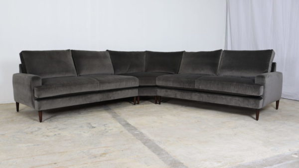 Cococo Home, JB Martin, Velvet Sectional, Modern Sectional, JB Martin, Amboise Charcoal