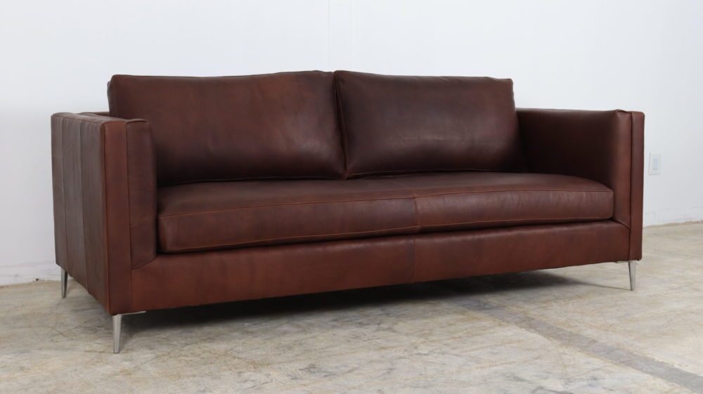 Cococo Home, Moore and Giles, Brown Leather Sofa, Contemporary Leather Sofa