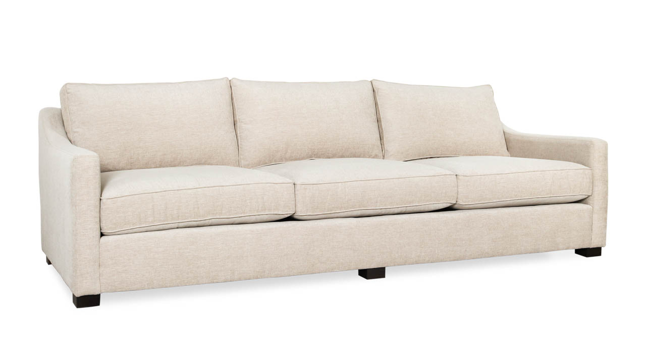 Modern Slope Arm Fabric Sofa 107 x 42 Stanton Barley by COCOCO Home