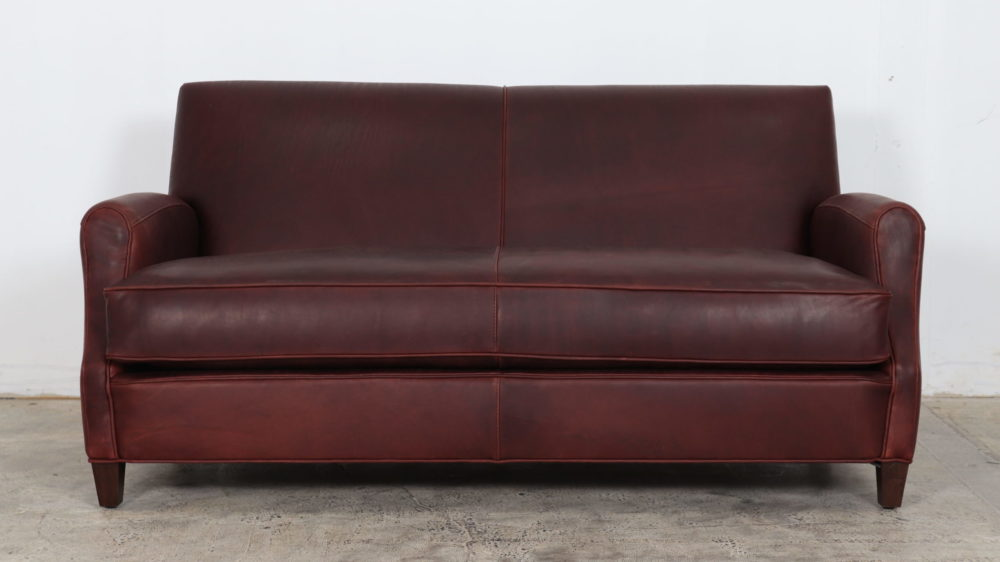 Metro Loveseat by COCOCO Home, in Ellis Oxblood by Moore and Giles