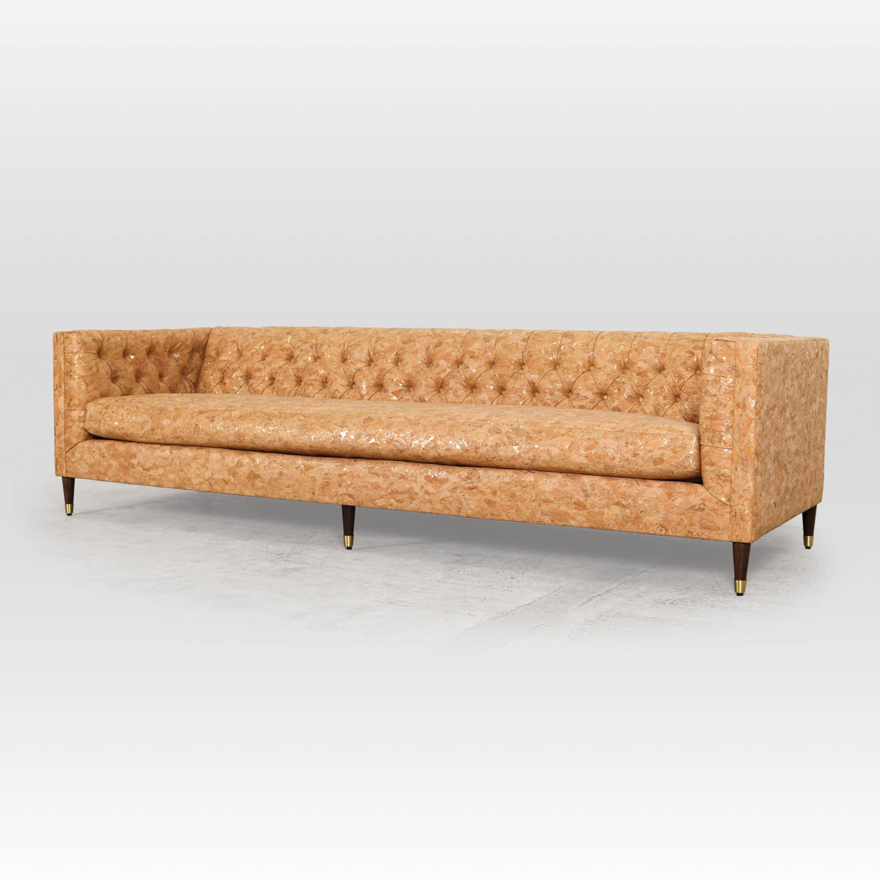 Belmont Fabric Sofa 114 x 38 Gold Flecked Cork by COCOCO Home