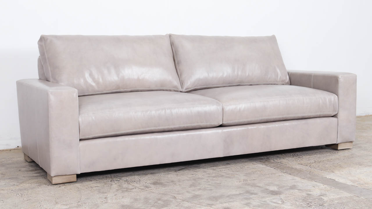 Monroe Leather Sofa 93 x 42 Belmont Frost by COCOCO Home
