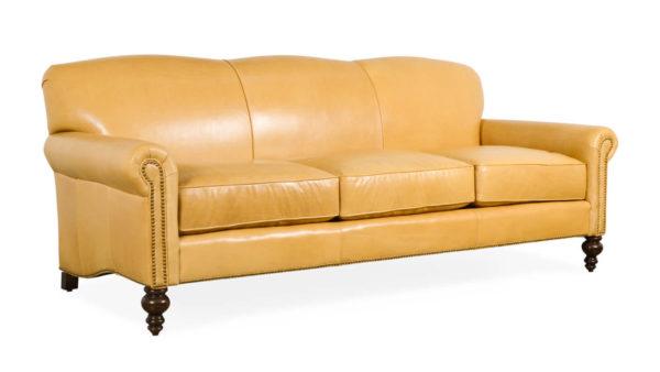 Belhaven Leather Sofa 86 Echo Fawn 3 1